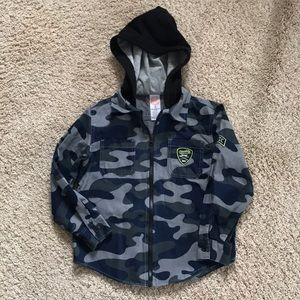 Boys shirt with attached hood